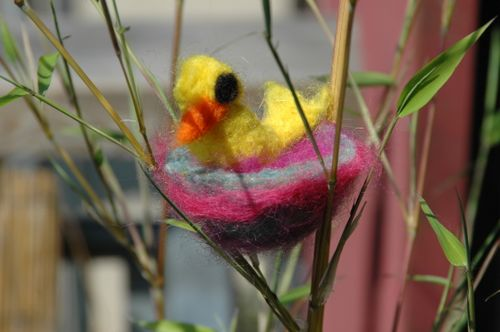 Needlefelted birdy